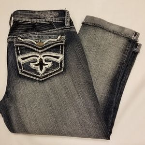 EUC- Hydraulic Cropped Jeans with Detailed Pockets